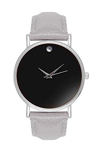 Armbanduhr Bloggeruhr Trenduhr Edelstahl Uhr Uhren Guenstig Quarzuhr Designer Farbe Schwarz Grau Silber Style Schlichtes Minimal Design ohne Ziffern Unisex