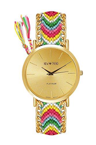 Beach Style Geflochten Armband Farbe Rot Gelb Gruen Gold Armbanduhr Blogger Trenduhr Uhr Damen Hippie Boho Festival Boho Anker Weltkarte Feder Freundschaftsarmband Dalas Mingbo Bijou V6