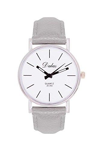 Schlichte Minimal Style Farbe Silber Grau Armbanduhr Blogger Uhr Uhren Trenduhren Trend Schmuck Bloggeruhr Minimalistisch La Boheme Lederarmband Dalas Mingbo Bijou V6