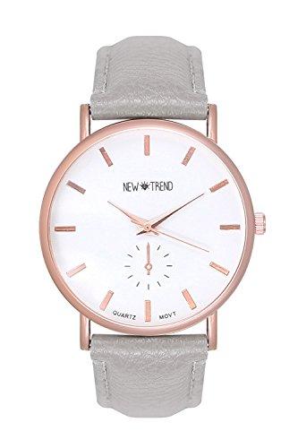 Trend Uhr Designer Rosegold Damenuhr Chronograph Optik Farbe Grau Rose Rosegold Gold Armbanduhr Rosengold Rotgold Kupfer Bloggeruhr Trenduhr
