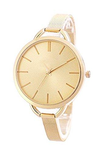 Zierliche Fashion in Farbe Gold Uhr Edelstahl Armbanduhr Armbanduhren Schmuck Damen Frauen Rosegold Rotgold Rose Gold Kupfer Blogger Mingbo Armband Bijou Mingbouhr Dalas V6 Modeschmuck