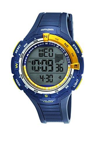 AM PM PC128 G126 Blau Kunststoff Alarm Stopwatch Digital Quartz