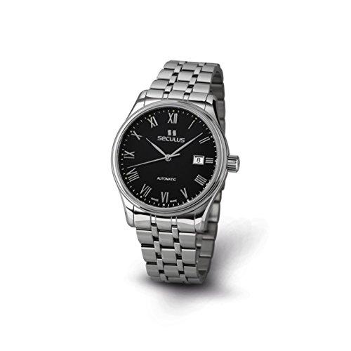 Seculus Ambassador Herren Armbanduhr 40mm Armband Edelstahl Gehaeuse Automatik 1015G 7 2824 M SS BR