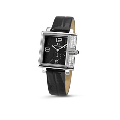 Seculus Design Damen Armbanduhr 31mm Armband Leder Gehaeuse Edelstahl Batterie Analog 1670 2 1064 LB SSst B
