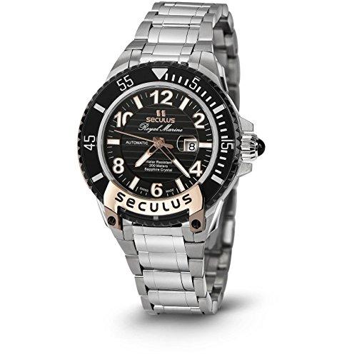 Seculus Royal Marine Flagship Damen Armbanduhr 37mm Armband Edelstahl Batterie Analog 3443 7 2671 M SSR B