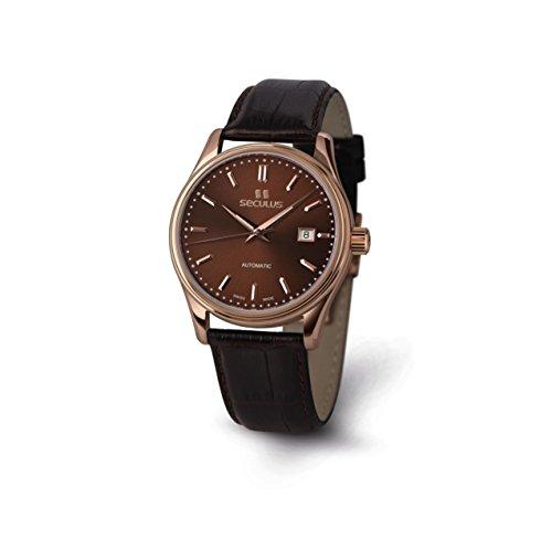 Seculus Ambassador Herren Armbanduhr 40mm Armband Leder Braun Saphirglas Automatik 1015G 7 2824 LBr R BrAP