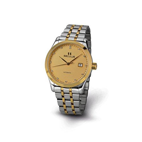 Seculus Ambassador Herren Armbanduhr 40mm Armband Zweifaerbiger Edelstahl Automatik 1016G 7 2824 M 2TY Yst