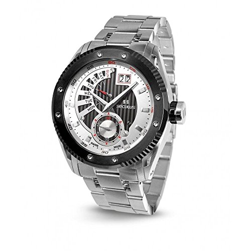 Seculus Copernico Herren Armbanduhr 48mm Armband Edelstahl Gehaeuse Batterie Analog 9535 2 704P M SSB WB