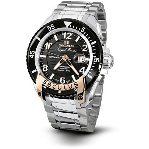 Seculus Royal Marine Flagship Herren Armbanduhr 48mm Armband Edelstahl Automatik 3441 7 2824 M SSR B