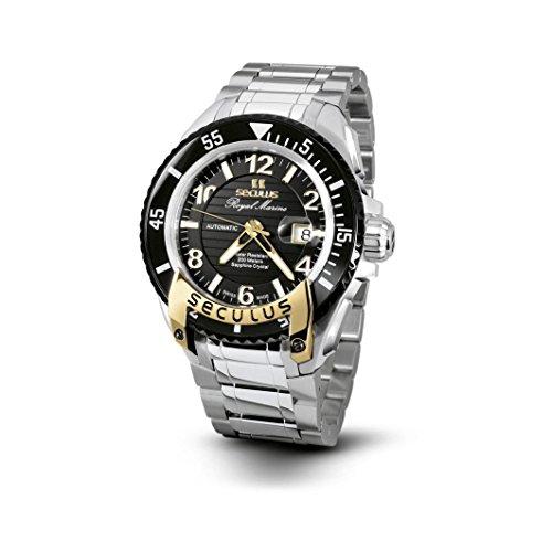 Seculus Royal Marine Flagship Herren Armbanduhr 42mm Armband Edelstahl Automatik 3442 7 2824 M SSY B