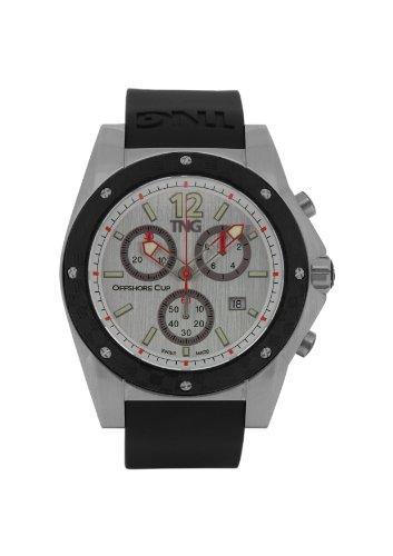 TNG Herren Armbanduhr Analog Plastik Schwarz TG618 30571 11PV