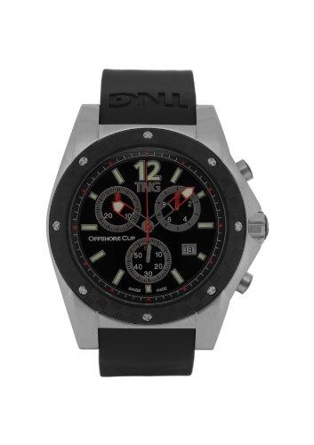 TNG Herren Armbanduhr Analog Plastik Schwarz TG618 30571 12PV