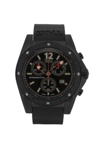 TNG Herren Armbanduhr Analog Plastik Schwarz TG618 30571 14PV