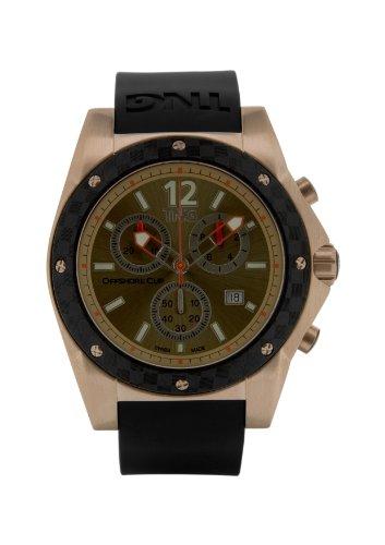 TNG Herren Armbanduhr Analog Plastik Schwarz TG618 30571 16PV