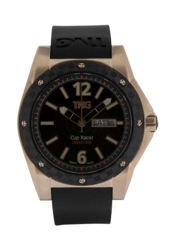 TNG Herren Armbanduhr Analog Plastik Schwarz TG667 30571 06PV