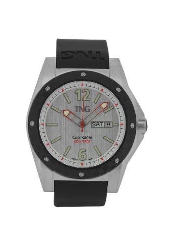 TNG Herren Armbanduhr Analog Plastik Schwarz TG667 30571 11PV