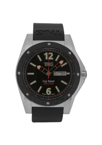 TNG Herren Armbanduhr Analog Plastik Schwarz TG667 30571 12PV