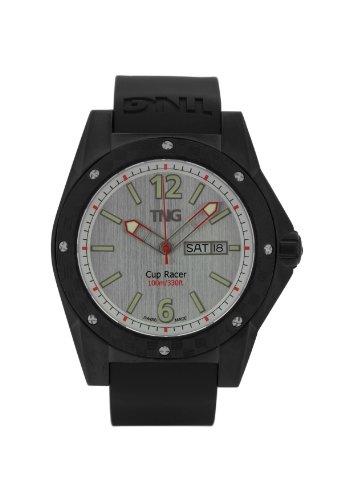 TNG Herren Armbanduhr Analog Plastik Schwarz TG667 30571 13PV