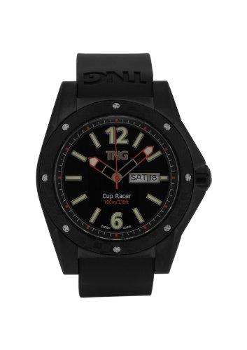 TNG Herren Armbanduhr Analog Plastik Schwarz TG667 30571 14PV