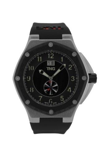 TNG Herren Armbanduhr Analog Plastik Schwarz TG686 30570 12PV