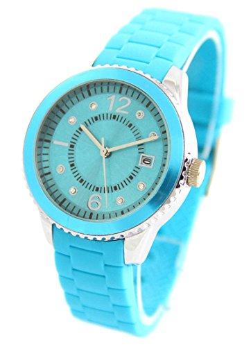 Damen Armbanduhr Silikon blau 2533