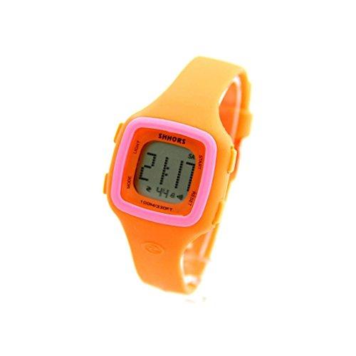 Damen Sport Armbanduhr Armband Silikon Orange 1777