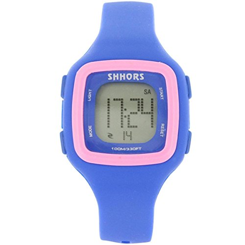 Uhren Sport Damen Damen Fantasie Armbanduhr Sport Chrono Silikon Blau 2354