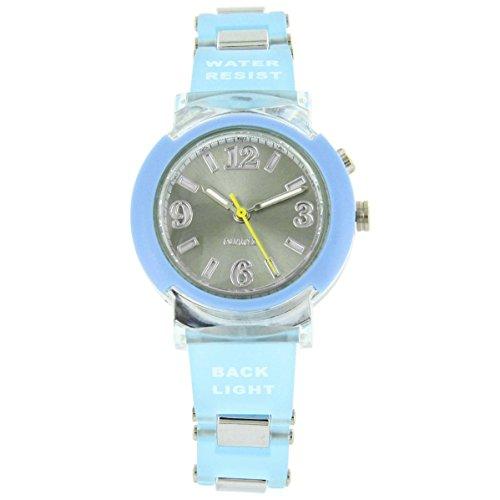 Uhren Sport Damen Zeigt Damen Lichterkette Silikon Blau Trend 2566
