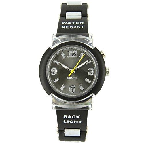 Uhren Sport Damen Jolie zeigt Damen Lichterkette Silikon Schwarz 2578