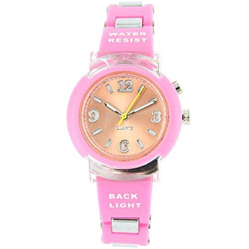 Uhren Sport Damen Zeigt Damen Originelle Lichterkette Silikon Rosa 2571