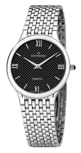Candino C43624 Herren-Armbanduhr Quarz Analog Edelstahl Silber