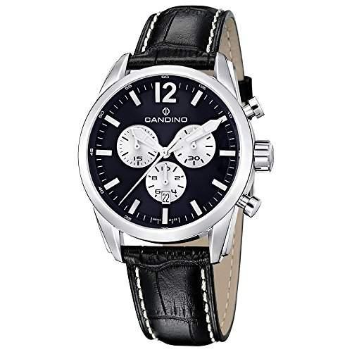 Candino Herren-Armbanduhr Sport, Chronograph, C4408B