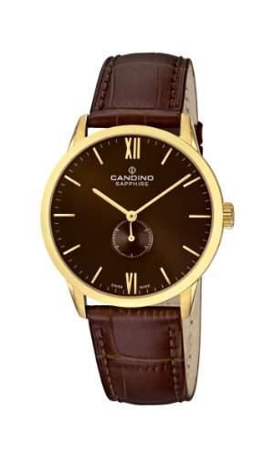 Candino Herren-Armbanduhr XL Analog Quarz Leder C44713