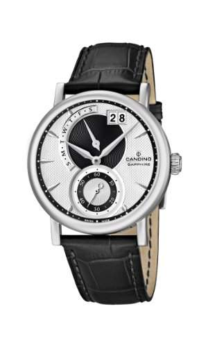 Candino Herren-Armbanduhr XL Analog Quarz Leder C44852