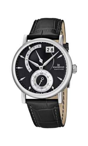 Candino Herren-Armbanduhr XL Analog Quarz Leder C44853