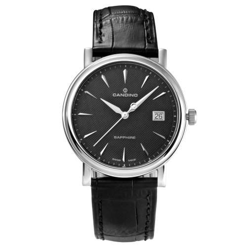 Candino Herren-Armbanduhr Analog leder schwarz C44873