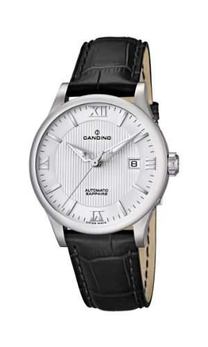 Candino Herren-Armbanduhr Analog automatik leder schwarz C44942
