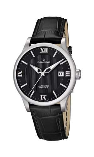 Candino Herren-Armbanduhr Analog automatik leder schwarz C44944