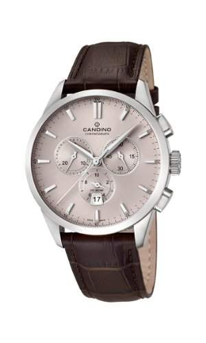 Candino Men- Armbanduhr Chronograph Quarz Leder braun C45171