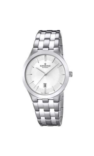Candino WomenQuarz-Uhr mit weissem Zifferblatt Analog-Anzeige und Silber-Edelstahl-Armband C45431