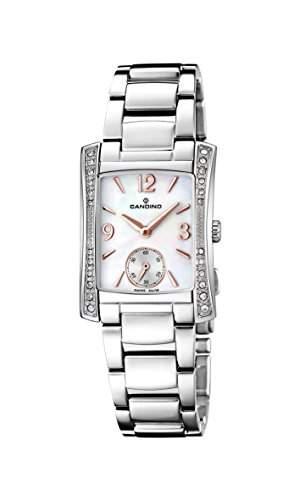Candino Damen Quarzuhr mit Mutter von Pearl Zifferblatt Analog-Anzeige und Silber Edelstahl Armband C45542