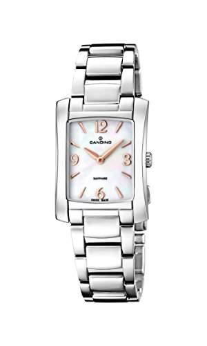 Candino Damen Quarzuhr mit Mutter von Pearl Zifferblatt Analog-Anzeige und Silber Edelstahl Armband C45562