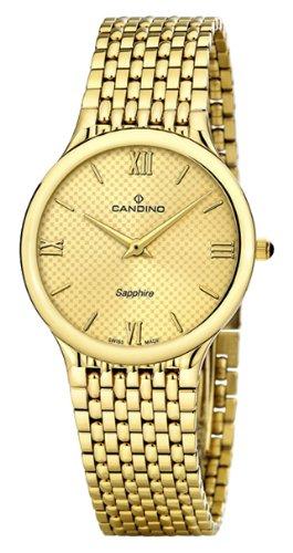 Candino Men Armbanduhr Analog Quarz Edelstahl Gold Armband C4363 3