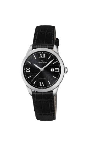 Candino C4528 3 Damen Armbanduhr Lolla Quarz analog Leder Schwarz