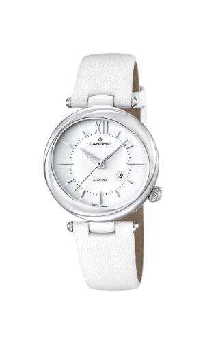 Candino C4531 1 Damen Armbanduhr Anastasie Quarz analog Leder Weiss