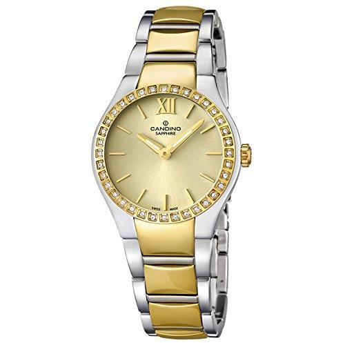 Candino Damen Armbanduhr Timeless analog Quarz Edelstahl Gelbgold PVD UC4538 2