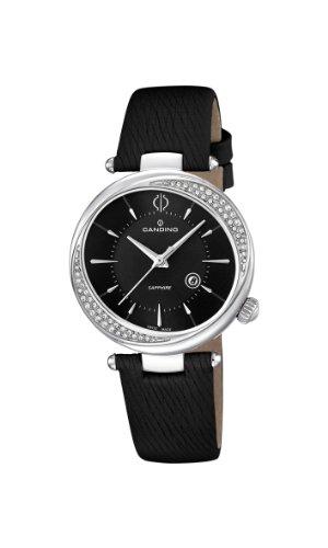 Candino Damen Quarzuhr mit schwarzem Zifferblatt Analog Anzeige und schwarz Lederband C4532 3