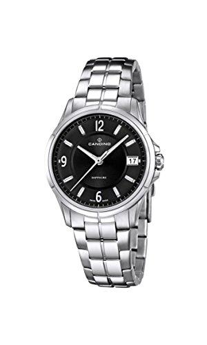 Candino Damen Quarzuhr mit schwarzem Zifferblatt Analog Anzeige und Silber Edelstahl Armband C4533 3