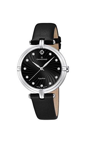 Candino Damen Quarzuhr mit schwarzem Zifferblatt Analog Anzeige und schwarz Lederband C4599 2