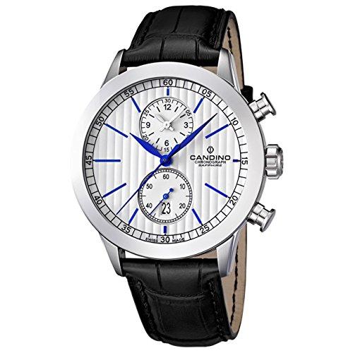 Candino Herren Armbanduhr Athletic Chic Chronograph Quarz Leder UC4505 2